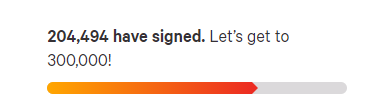 Dogecoin petition's goal. Source: Change.org.