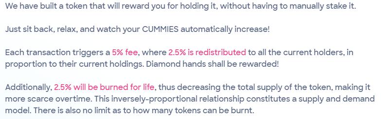 CumRocket tokeneconomics. Source: Cumrocket.io